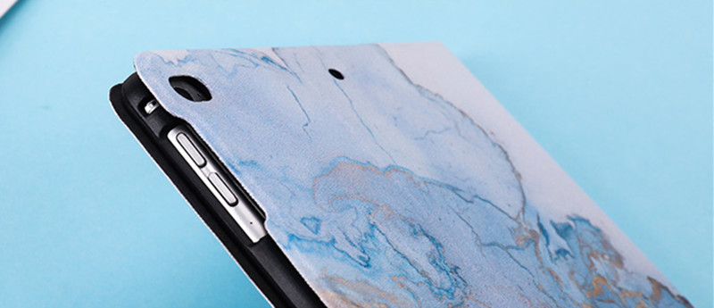 Leather for Back Magnetic Case 2019 Smart Marble iPad 10.2inch PU PC Texture 2020 Cover