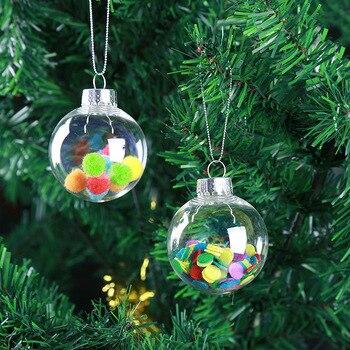 Diameter=4cm 200pcs/pack Glass Christmas Ball Mini Size Transparent Glass Globe Christmas Day Decorative
