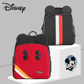 Disney Mickey Diaper Bag Luxury PVC Fashion Mummy Maternity Nappy Bag Large Capacity Baby Bag Travel Backpack For Stroller New