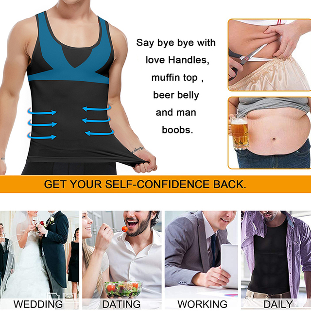 Men Shapers Belt Belly Men Slimming Vest Body Shaper Abdomen Fat Burning Waist Sweat Corset Weight Dropshipping Shapewear 5
