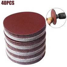 40 Pcs Polishing Pad Sanding Disc Hook Loop SandPaper 320/400/600/800/1000/1200/1500/2000 Grit Sandpaper