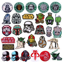 Iron On Patches For Clothing Star Wars Quality Sew On Decal Punk Backpack Jacket Badge On The Back Embroidered Patch On Clothes on