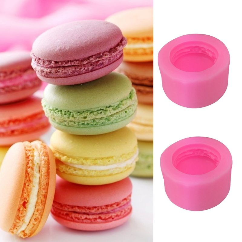 Food Grade Silicone 3D Macaron Shape DIY Chocolate Mold Fondant Candy Soap Polymer Clay Crafting Mould Decorating Baking Tool