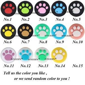Image 2 - IVYUEEN 4 sztuk silikonowe nakładki na przyciski pokrywa dla przełącznik do nintendo NS Lite Joy Con gałka analogowa czapki skóry dla JoyCon uchwyt joysticka