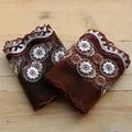3 ярда деликатная коричневая вышивка, хлопковая сетка, вышивка, кружево, сделай сам, украшение