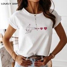 100% bawełny z krótkim rękawem damski T-Shirt z nadrukiem dramatyczny dorywczo luźny prosty T-Shirt kobiet 2021 lato Streetwear t-shirty