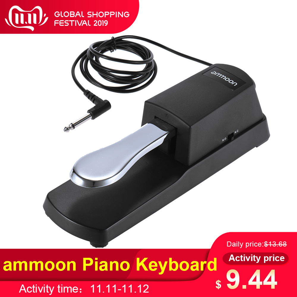 Ammoon Piano Keyboard Sustain Damper Pedal For Casio Yamaha Roland Electric Piano Electronic Keyboard Electronic Organ