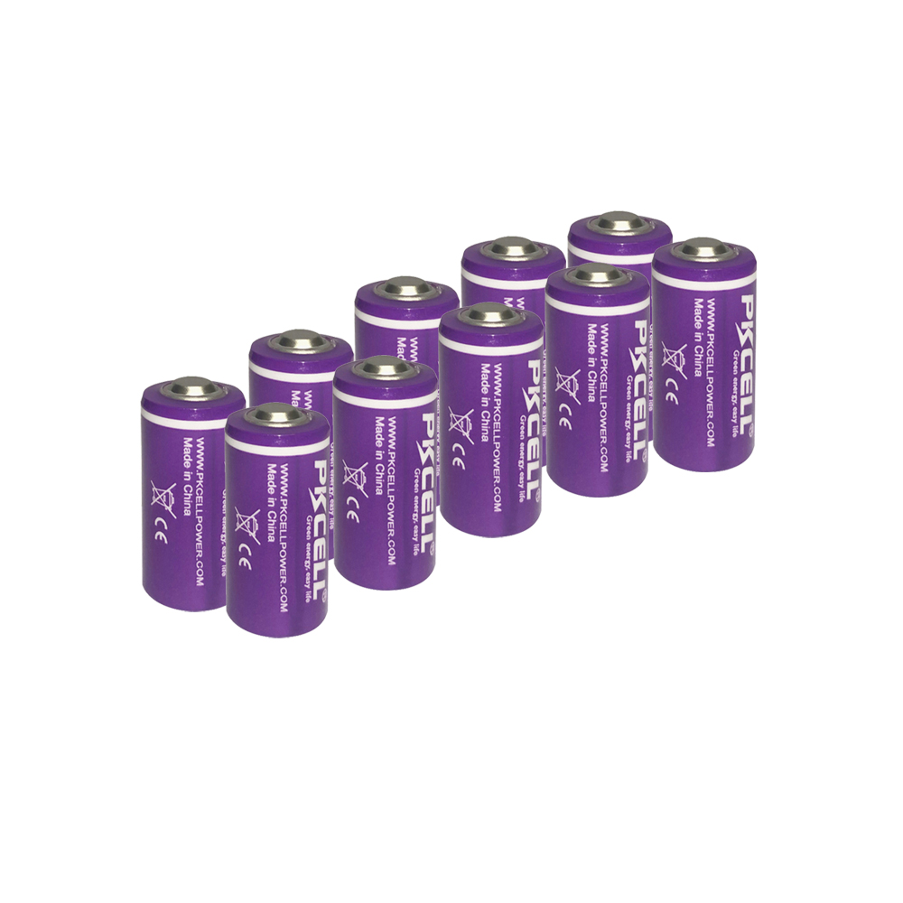 10PCS PKCELL 1/2 aa lithium battery 3.6v ER14250 1200Mah 1/2 AA <font><b>LS</b></font> <font><b>14250</b></font> Batteries for electricity meter medical devices image