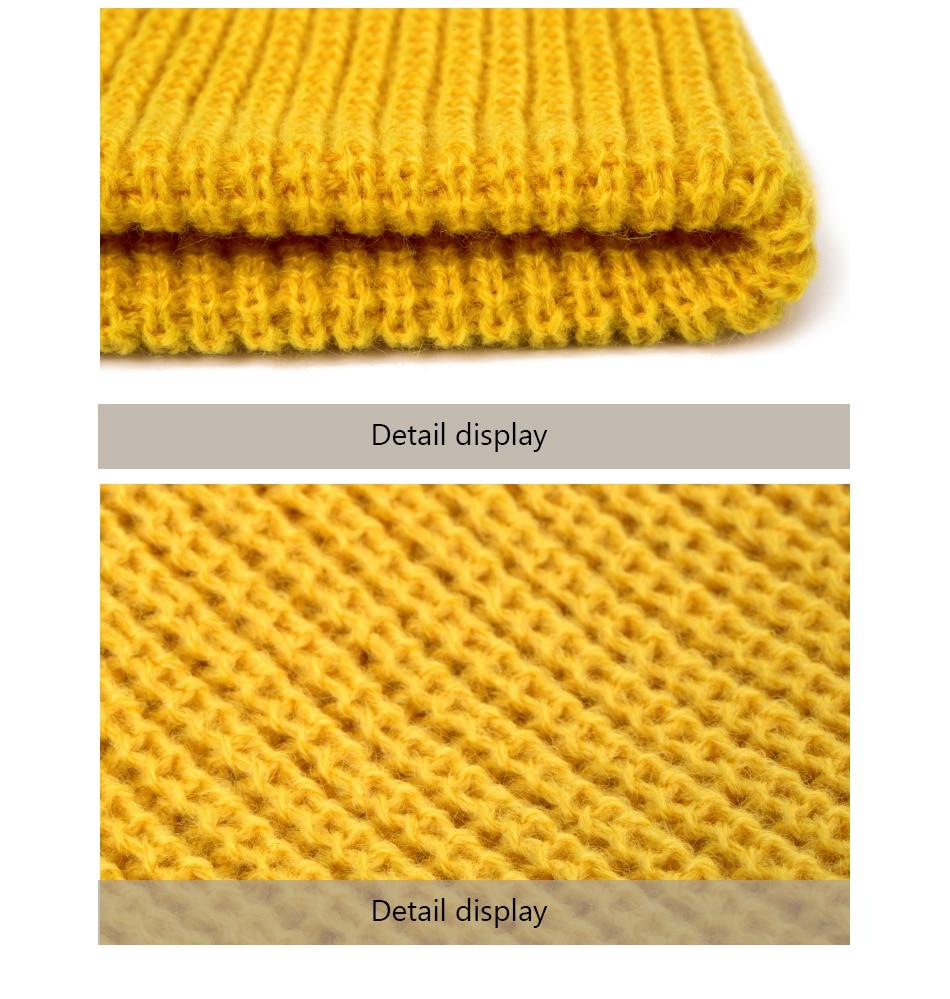 2019 Fashion Unisex Winter Hat Men Cuffed Cib Knit Hat Short Melon Ski Beanies Autumn Winter Solid Color Casual Beanie Hat 18