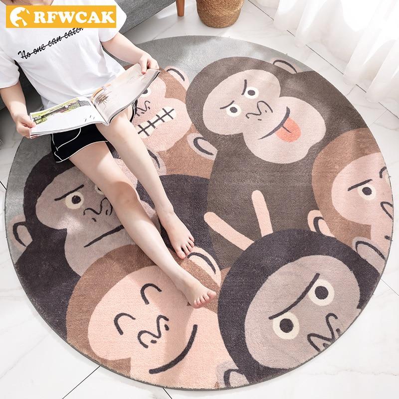 RFWCAK tapis rond salon enfants rampe tapis ordinateur chaise tapis de sol vestiaire tapis Tapete Para Sala décoration de la maison