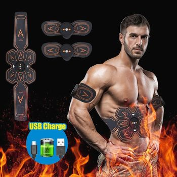 Fitness Exercise Machine Abdominal Toning Belt Vibration Abdominal Muscle Trainer Electronic Belt ABS Fitness Massage  Equiment