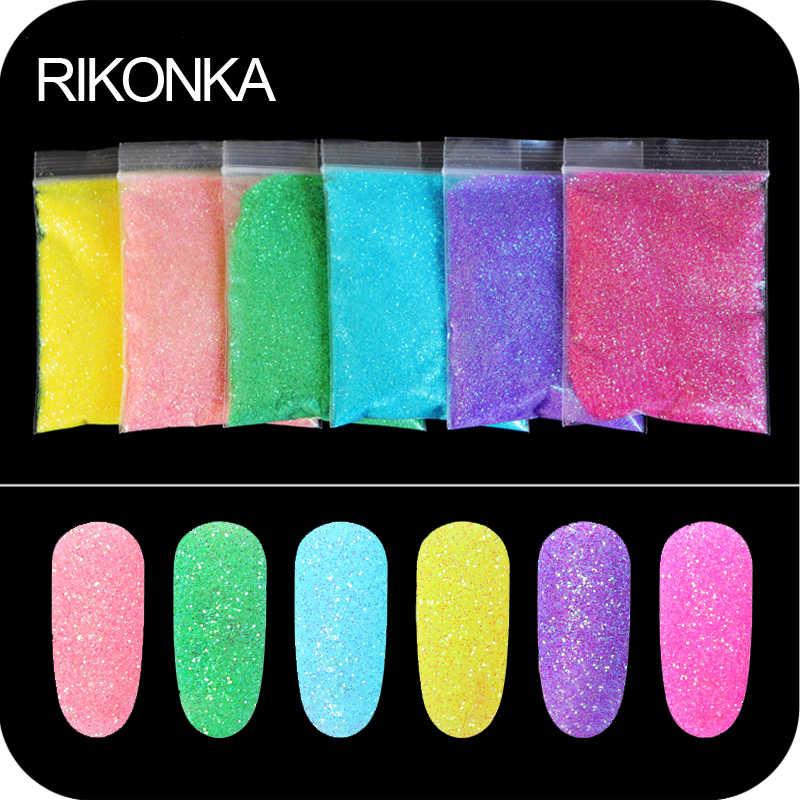 Arte colorida para unhas, glitter em pó para manicure, açúcar, pó, glitter, decorações para unhas, esmalte em gel uv, g/saco