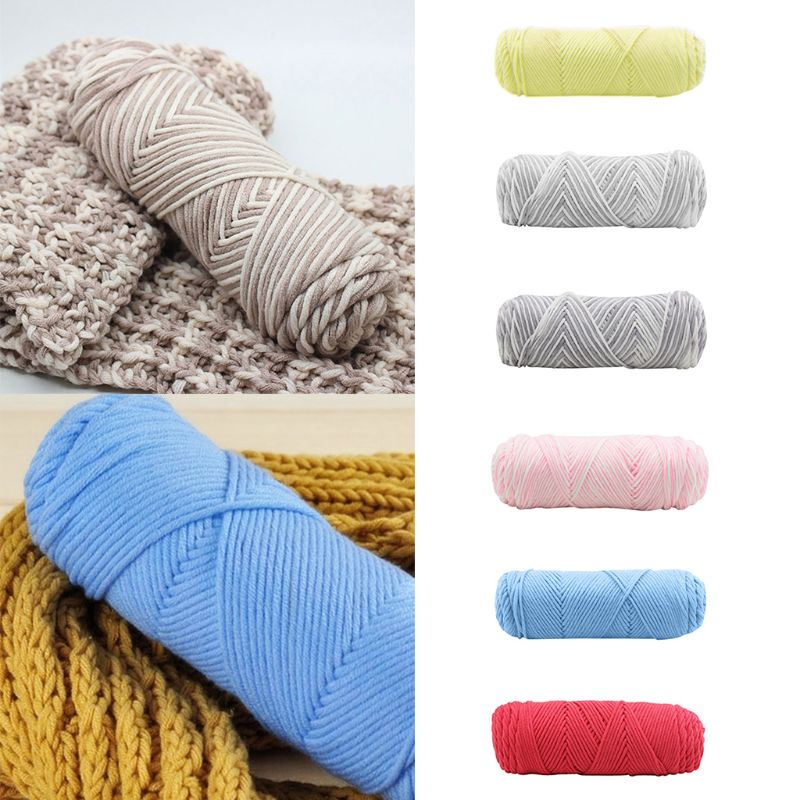 100g/Ball Rayon Milk Cotton Hand Knitting Yarn Thick 8 Strand Crochet Hand-Woven Faux Wool Chunky Thread For Baby Scarf