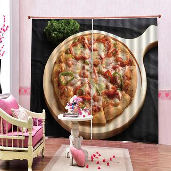 restaurant curtains Customized size Luxury Blackout 3D Window Curtains For Living Room