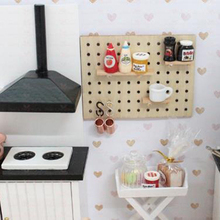 Toys Furniture-Accessories Doll-House Hole-Board Wooden Storage-Rack 1:12
