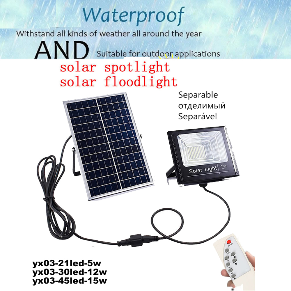LED Solar Light LED Outdoor Wireless Solar Powered Wall Lamp With Solar Panel Light Bulb Energy Led Solar Bulb Light Remote Time