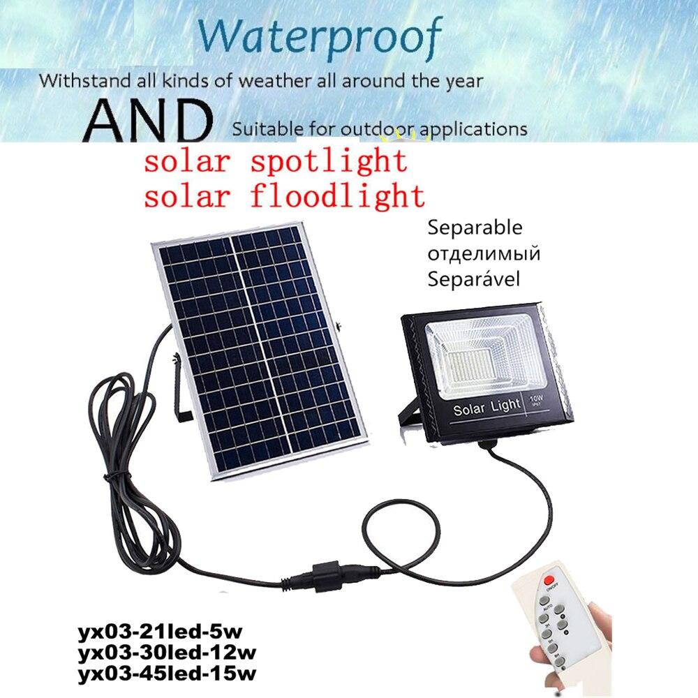 LED Solar Light LED Outdoor Wireless Solar Powered Wall Lamp With Solar Panel Light Bulb Energy Led Solar Bulb Light Remote Time