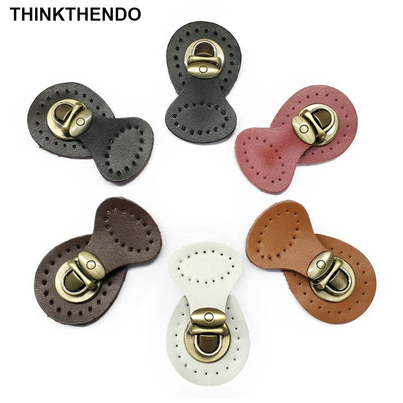 Artificial Leather Magnetic Button Lock Bag Snap Closure Buckle Clasp Fastener Replacement DIY Handbag Purse Sewing Accessories
