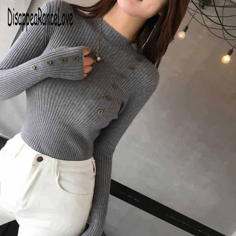 女性スリムニットセーター秋冬 O-ネックセーター長袖カシミヤ混紡のセーター半高襟ジャンパー
