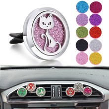 New Car Perfume Diffuser Necklace Air Freshener Aromatherapy Essential Oil Clip Locket Aroma Pendant