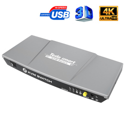 2 Poorten Kvm Hdmi Switch Usb Kvm 2 Poorten Hmdi Schakelaar 2 In 1 Out Controle 2 Stuks Met Extra usb 2.0 Poort Ondersteuning 4K * 2K (3840X2160)