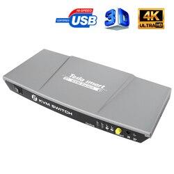 2 puertos KVM HDMI interruptor usb KVM 2 puertos HDMI interruptor 2 en 1 Control 2 uds con USB 2,0 adicional Compatibilidad de puertos 4K * 2K (3840x2160)