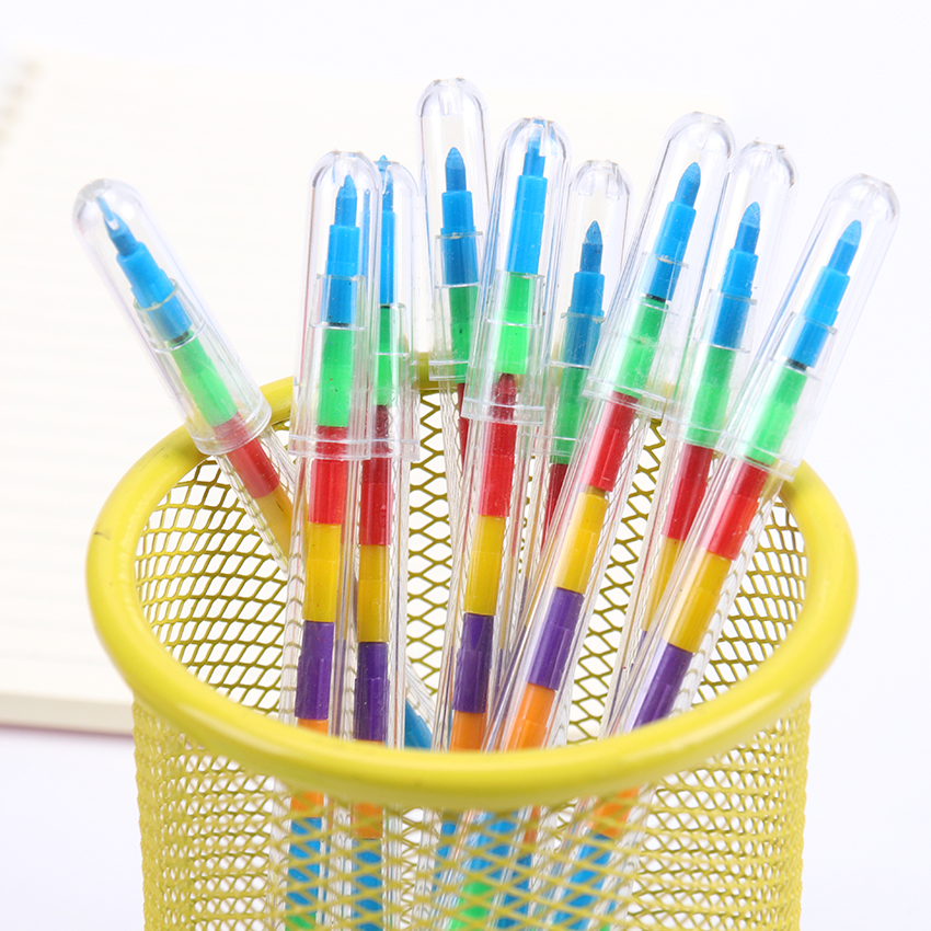 1PC Colorful Crayons Multicolor Colors Graffiti Pens Oil Paint Pen Drawing Pen Art Painting Gift For Children Kids Oil Pastel