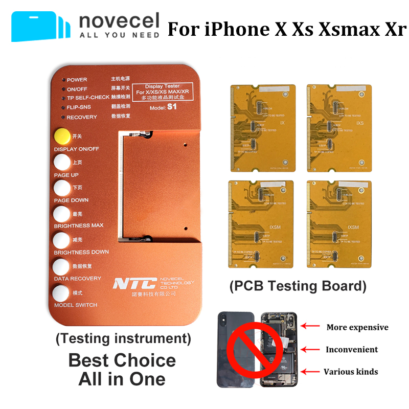 Novecel S1 Tester LCD Tester Box Substrate Test For IPhone X XS XR XSMAX Motherboard Tester LCD Touch 3D Touch Test Screen Touch