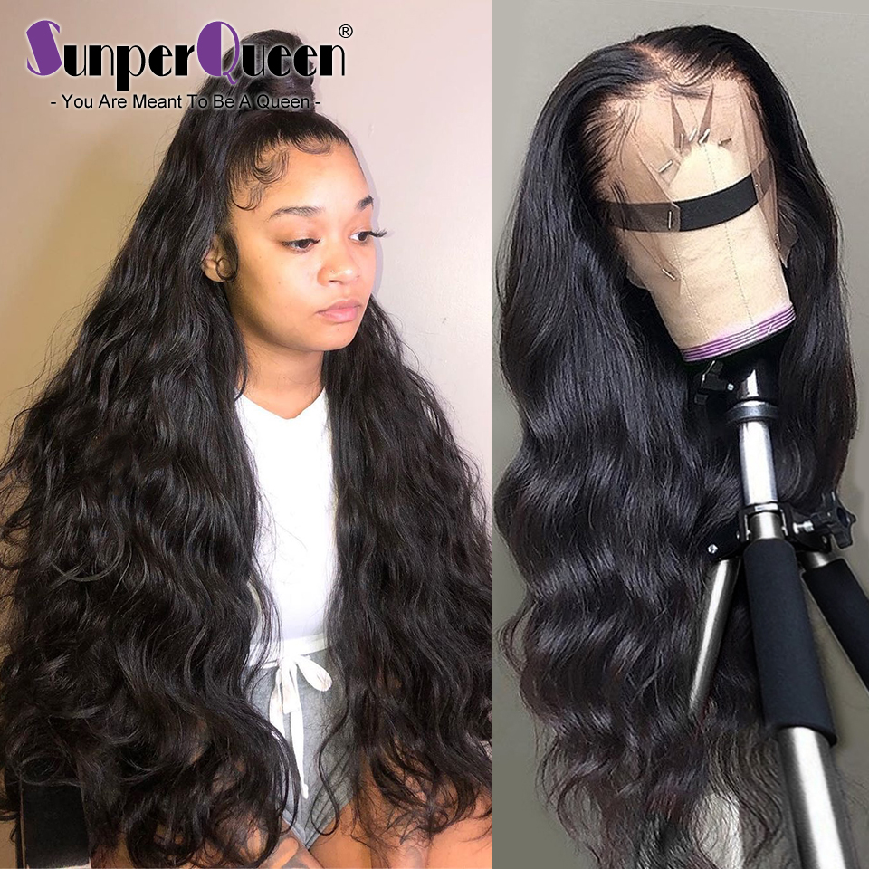 Sunper Queen 360 Lace Frontal Wig M Brazilian Body Wave Human Hair Wigs Remy Hair Pre Plucked With Baby Hair Free Shipping