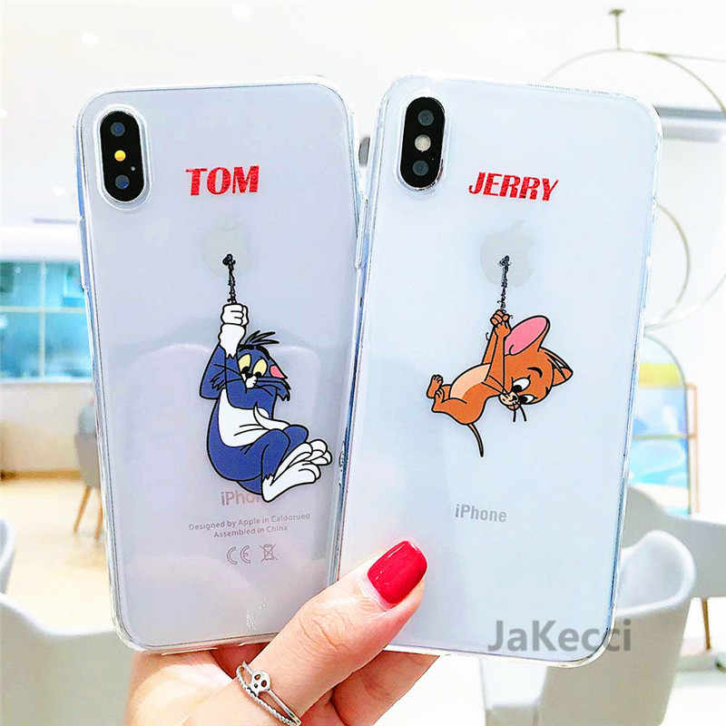 Cute Phone Case for iPhone 7 Case Ultra thin Cartoon Cases For iPhone 6 6s 5 5s Se 7 8 Plus 11 Pro XR X Xs Max Soft TPU Covers