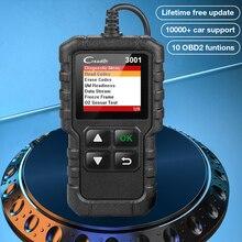 Lansmanı X431 CR3001 obd2 profesyonel otomotiv tarayıcı OBDII kod okuyucu araç teşhis araçları motor kapalı ücretsiz güncelleme pk elm327