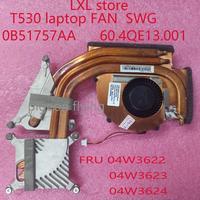 T530 FAN for Thinkpad T530 T530i laptop SWG radiator FRU 04W3622 04W3623 04W3624 P/N: 0B51757AA  60.4QE13.001 100%  test OK