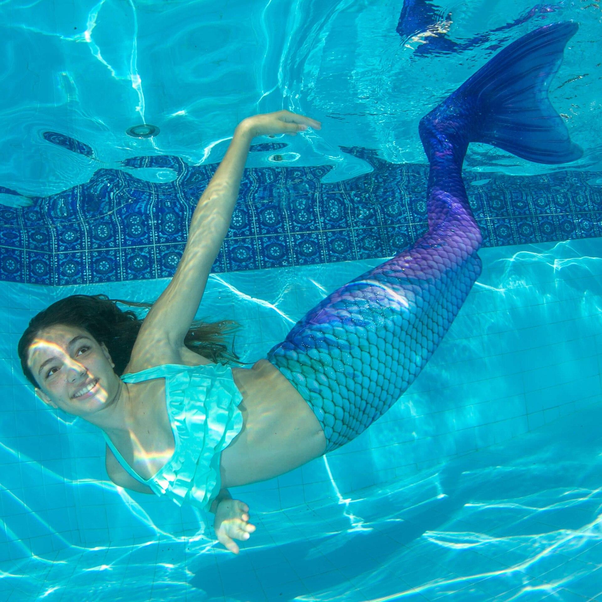 Femmes fille sirène queues pour été baignade plage natation maillot de bain adulte enfant maillots de bain queue de sirene vêtements C28105CH