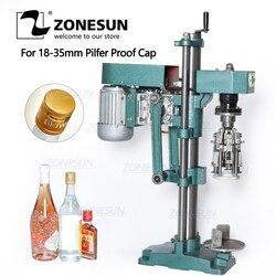 ZONESUN ROPP Cap Crimping Machine Soybean Sauce Wine Soda Water Bottle Pilfer Proof Capping Machine Food Packing Machine