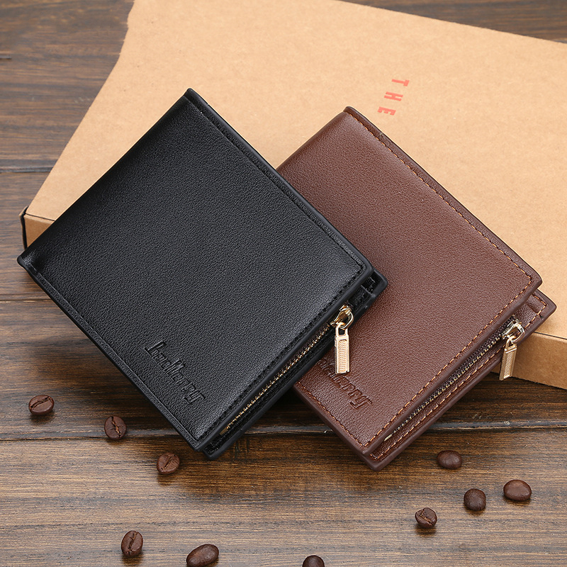 Men Leather Wallet Business Casual Men's Wallets Horizontal Vertical Multi-card Slot Male Purse Money Credit Portomonee Carteria