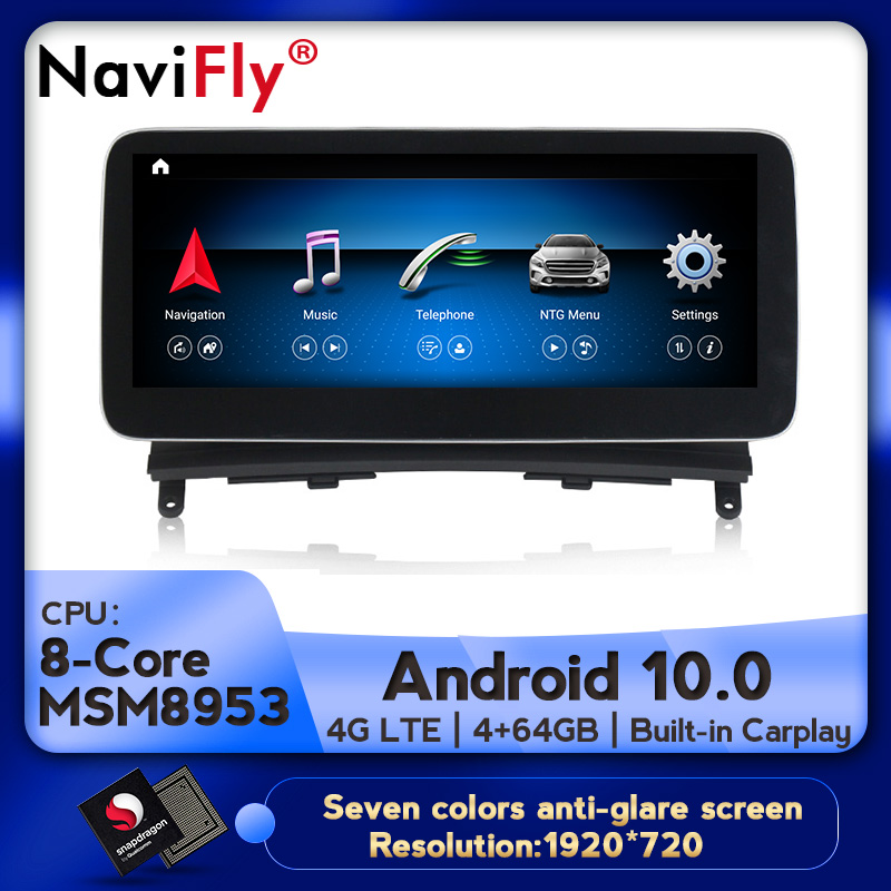 Android 10 8Core 4 64G Car dvd radio multimedia Player GPS Navigation for Mercedes Benz C-Class W204 S204 2008 2009 2010 w204
