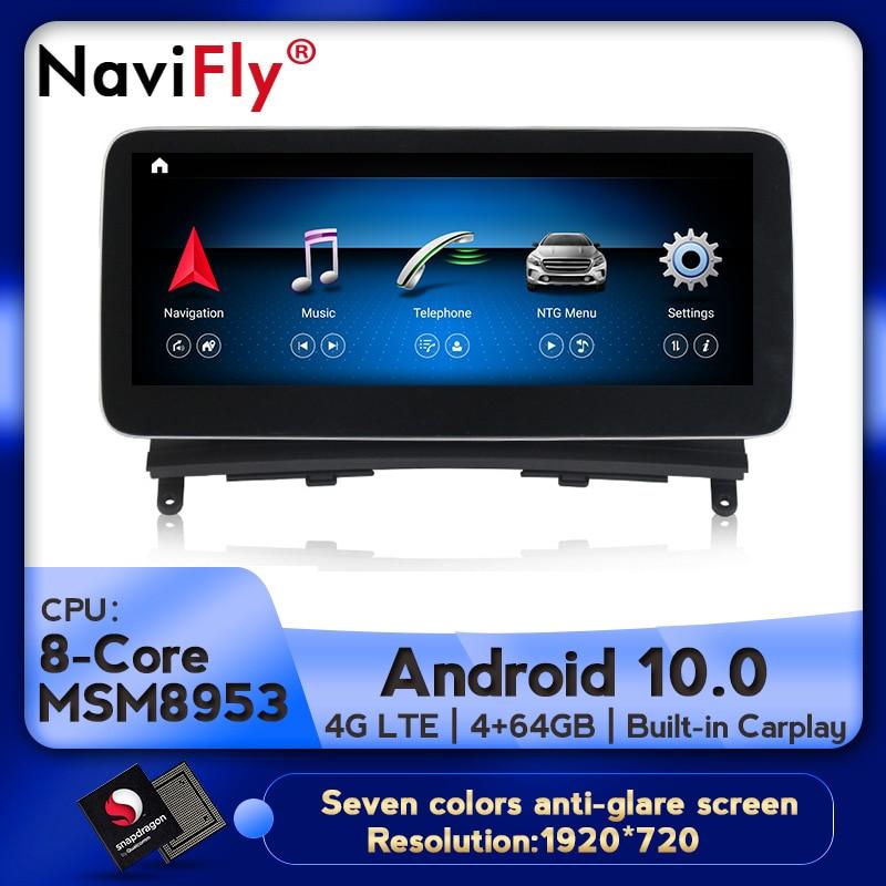 Android 10 8Core 4 + 64G Автомобильный dvd Радио мультимедийный плеер GPS навигация для Mercedes Benz C-Class W204 S204 2008 2009 2010 w204
