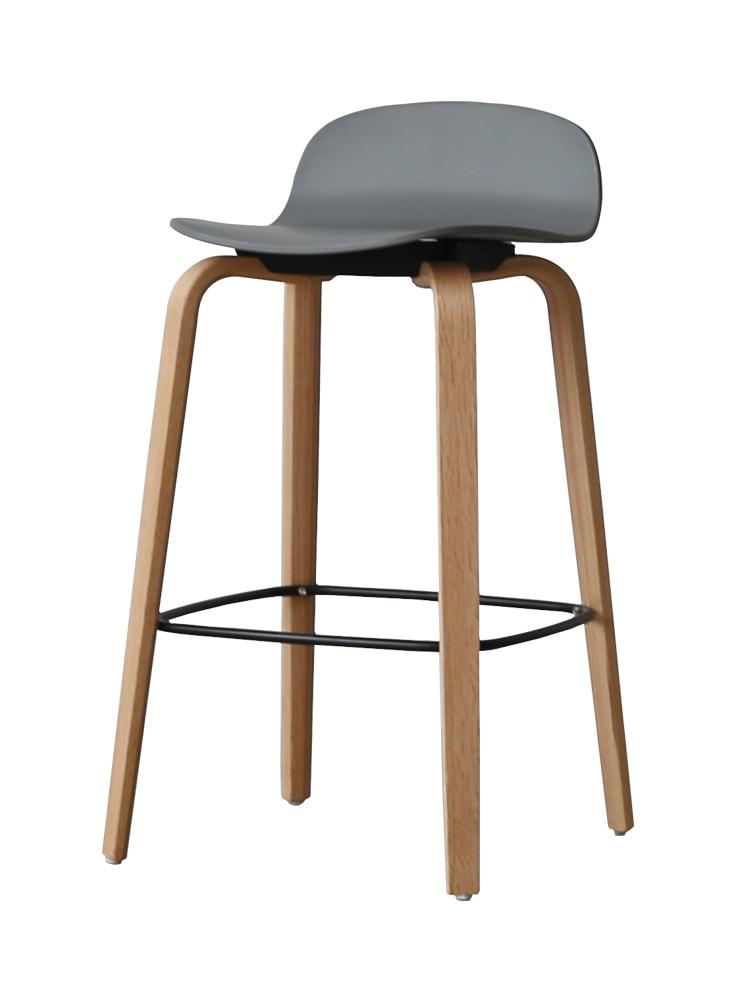 Nordic Bar Stool Leisure Bar Chair Bar Modern Minimalist Creative Solid Wood Back High Stool Home Bar Stool