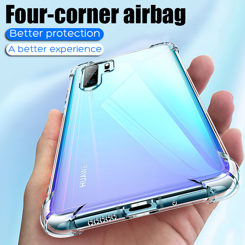 Transparent Airbag Protection Case For Huawei P20 P30 Lite Pro P Smart Plus 2019 Honor 20 10 Light 10i 20i Shockproof Back Cover