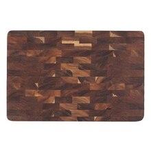 Premium acácia placa de corte madeira com apertos de mão sólida resistente cortar servindo bandeja bandeja presente perfeito sem pintura ferramenta de corte