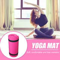 Esterilla de Yoga NBR portátil, cojín Extra grueso antideslizante de 15mm, para Fitness, para principiantes, portátil y ligero