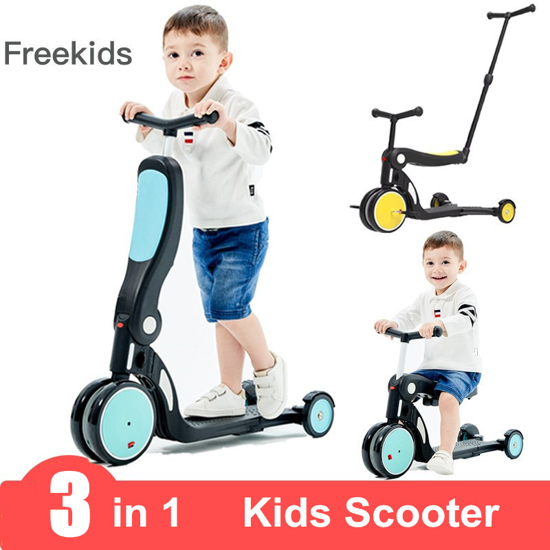 Kids Scooter Car for Kids 2-7 Years Old Skater Surf Scooter Folding 2 in 1 High Quality Scooter Baby Walker Outdoor Toys