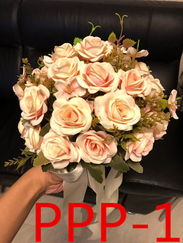Akcesoria ślubne gospodarstwa kwiaty 3303 PPP tanie i dobre opinie Bukiet ślubny