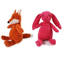 Plush Toy Dog Fleece Toys Bite Resistant Cleaning Teeth Chew Puppy Cartoon Squeaking Animal Pet For Dogs