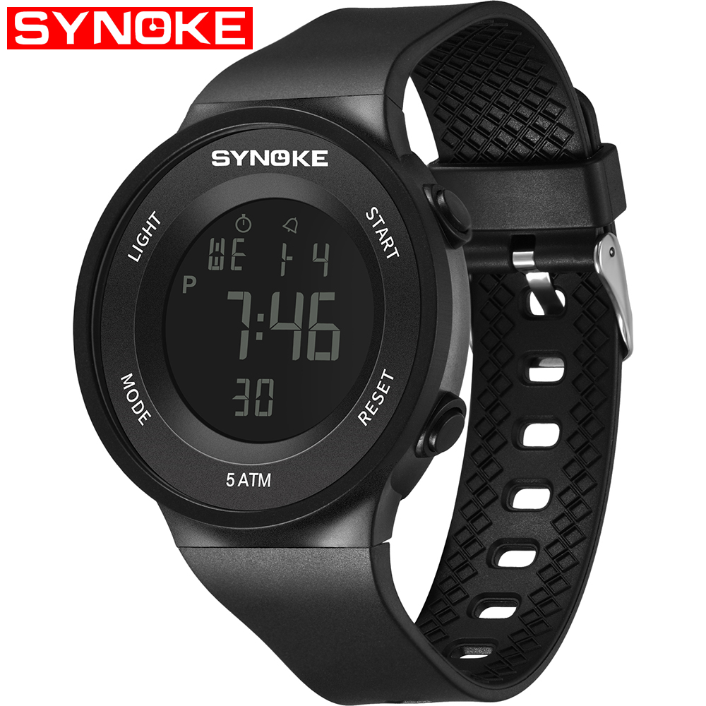SYNOKE Kids Watches Led-Display Boys Clock Digital Sport Electronic Student Child