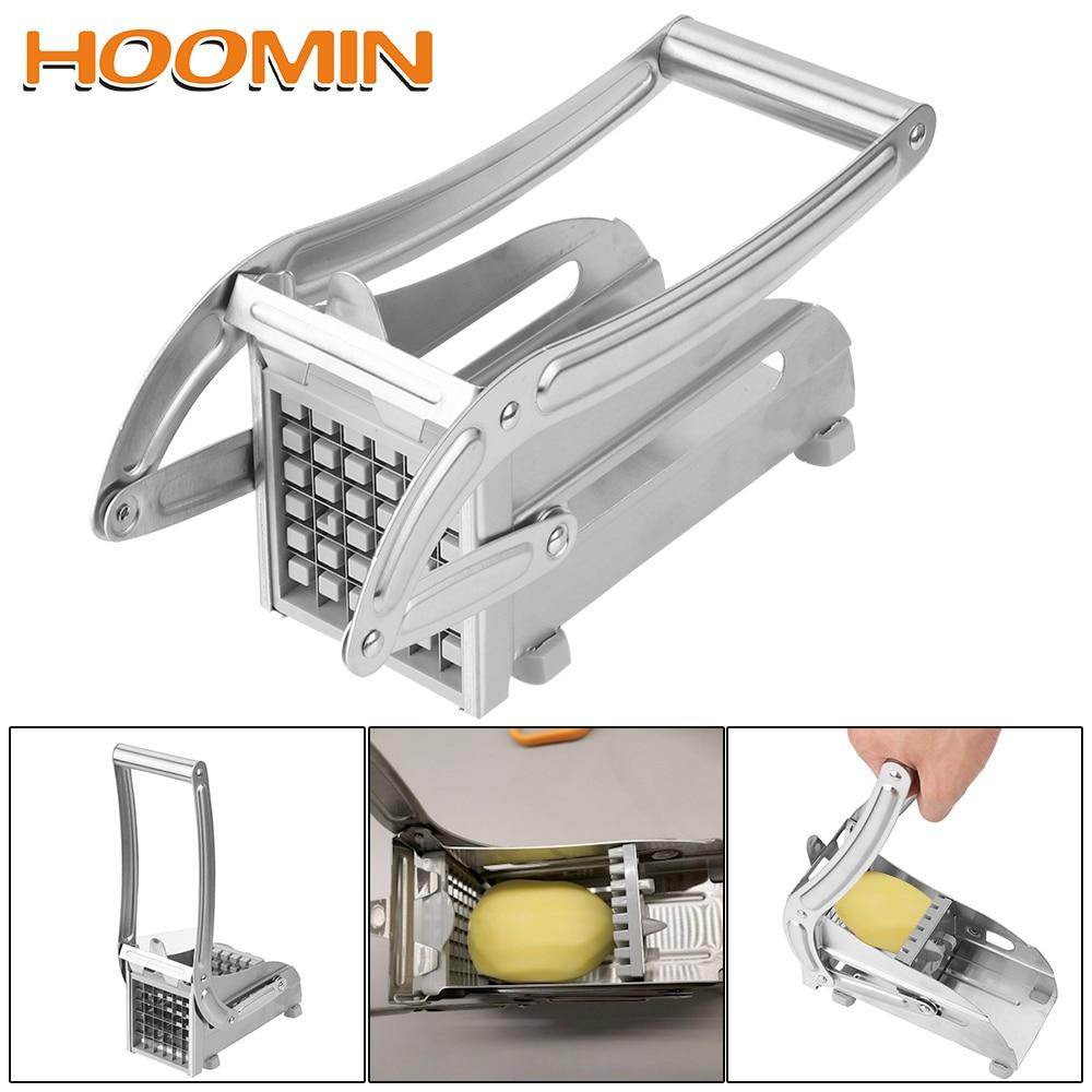 HOOMIN Chipper Slice Potato Strip Cutter Home Practical Cucumber Cutting Machine Stainless Steel Kitchen Gadgets