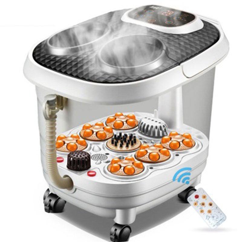 Fully Automatic Washing Footbath Electric Heating Pedicure Machine Deep Household Barrel Fumigation Foot Massage Tub