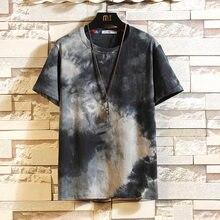 Corea T camisa de manga corta de los hombres de verano de 2021 imprimir camiseta Top de moda de la marca de ropa de talla grande