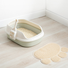 Cat Pet Litter Trapping Mat Durable PVC Paw Print Washable Non Slip Door Bathroom Feeding Carpet for Box
