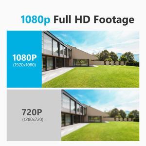 Image 3 - SANNCE 4 채널 와이파이 1080P ip 카메라 NVR CCTV 무선 카메라 시스템 4CH 와이파이 NVR 키트 와이파이 NVR 키트 CCTV 키트 1 테라바이트 HDD